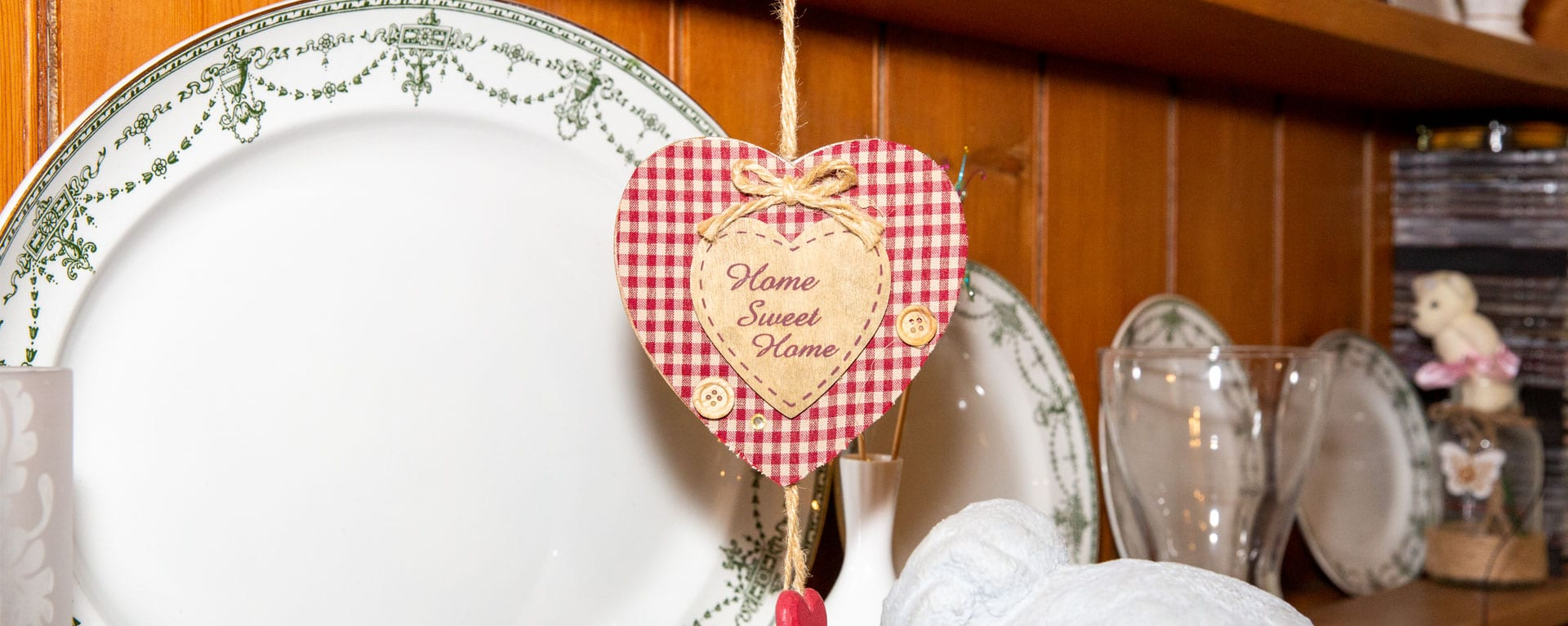 Home sweet home decoration in the care homes dining room