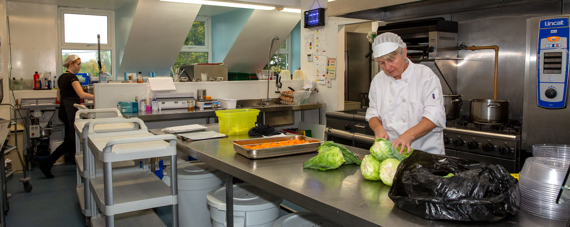 Laurel Care home's chef preparing a fresh meal