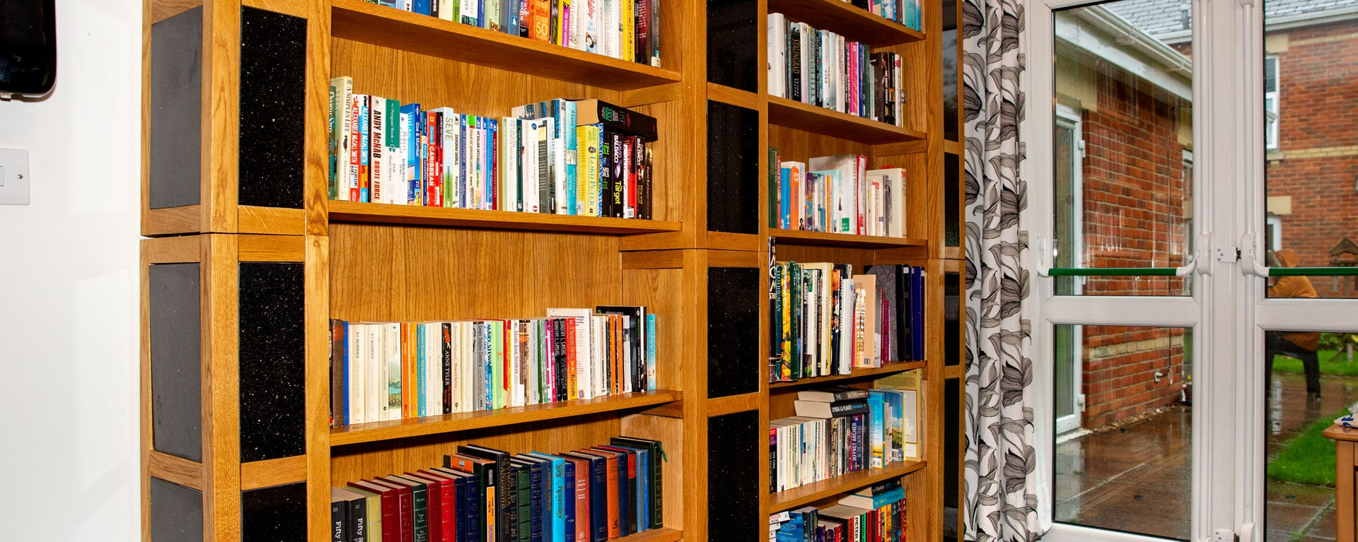 Book shelf in Laurel care home's library