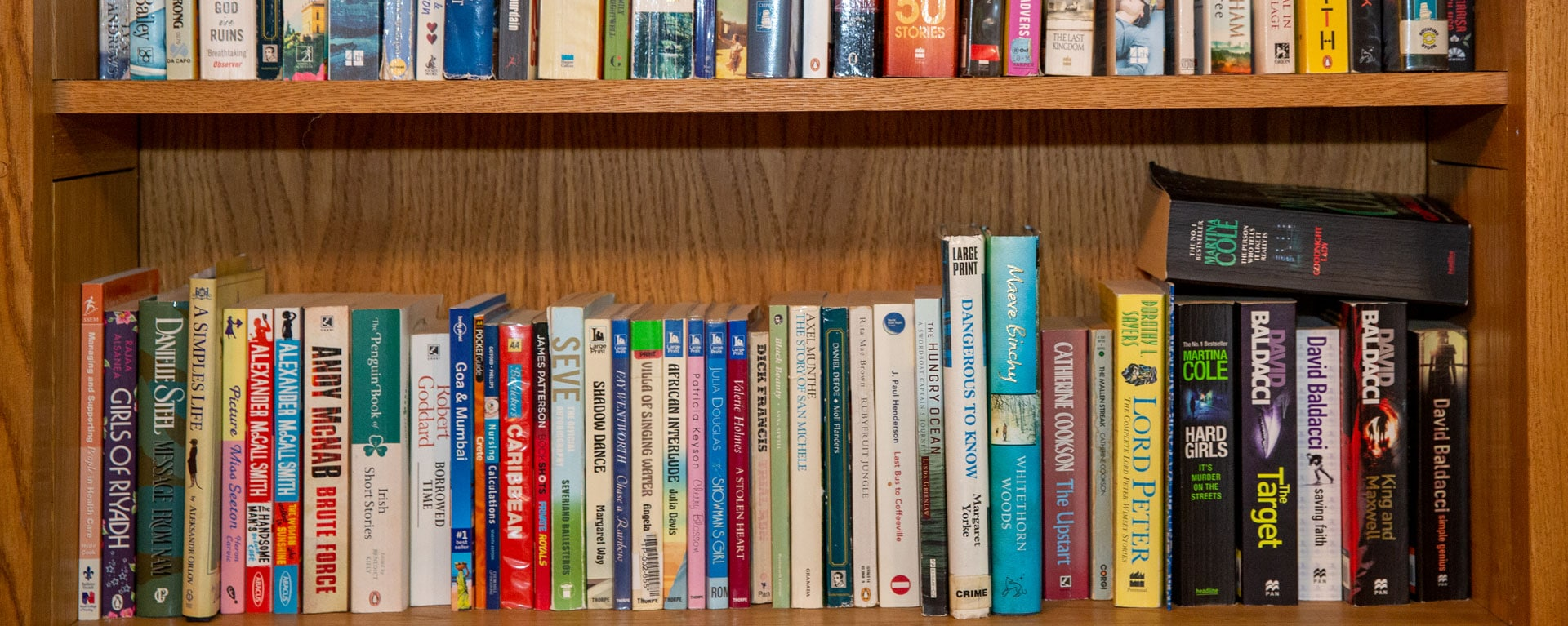 Laurel Care homes book collection in the library