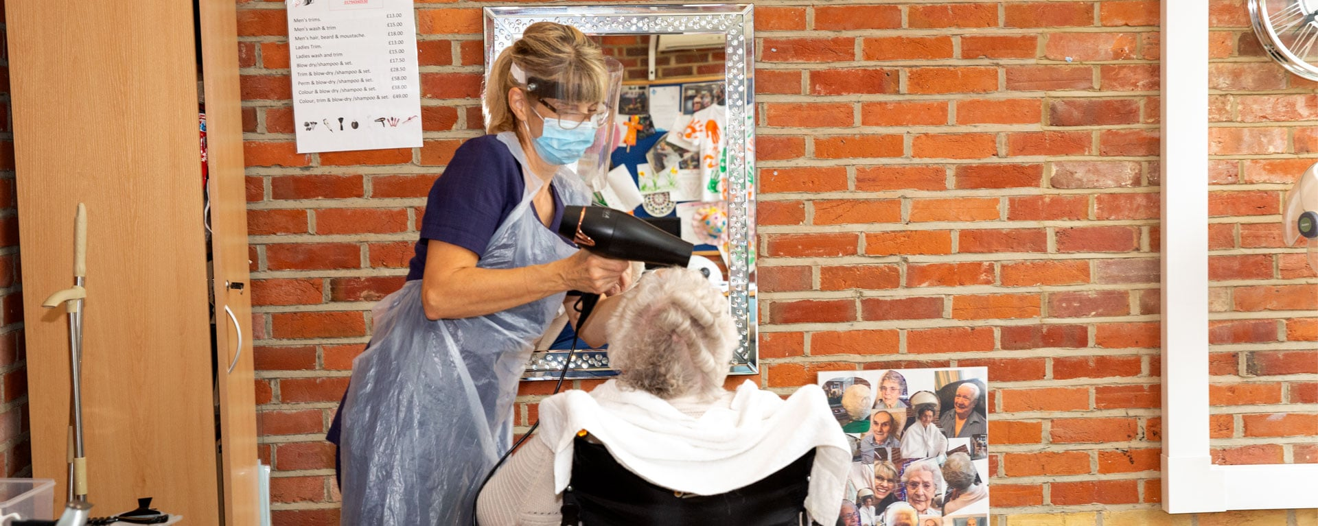 Laurel Care home's hairdresser