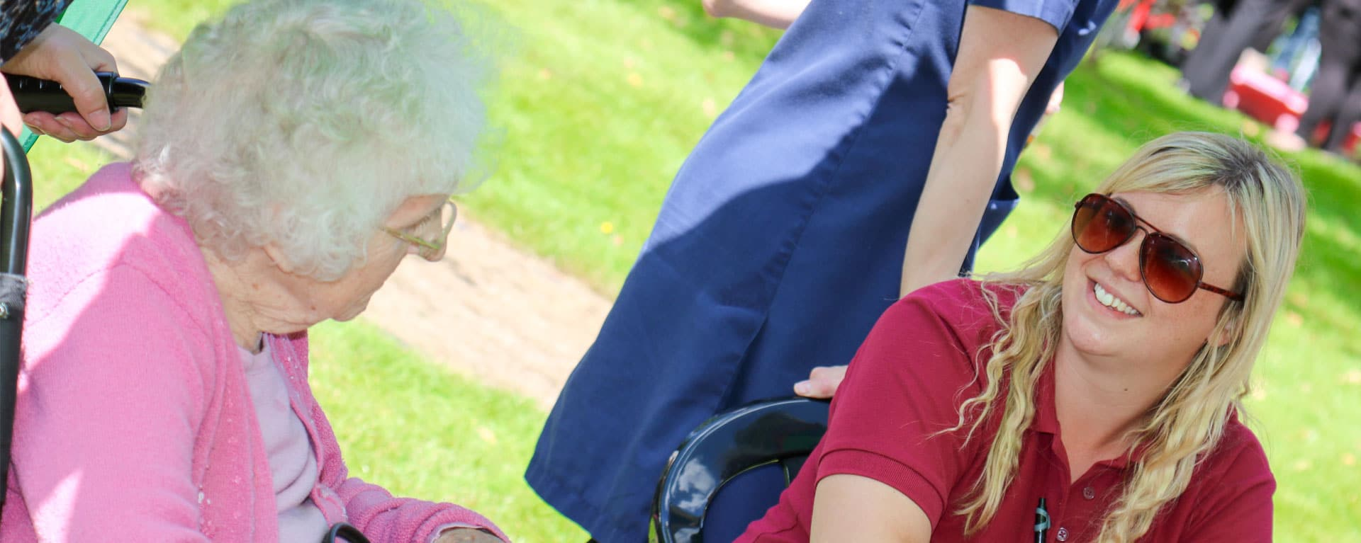 Activities coordinator and resident at Laurel Care Homes summer fete