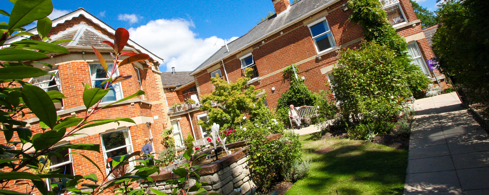 Laurel Care Home Gardens in the summer