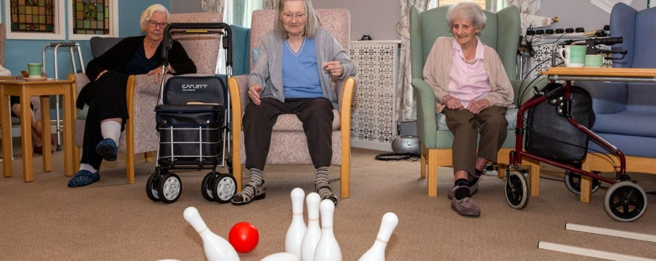 Laurel Care Home Residents bowling